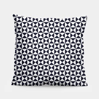 Basic Shapes Black and White Pillow obraz miniatury