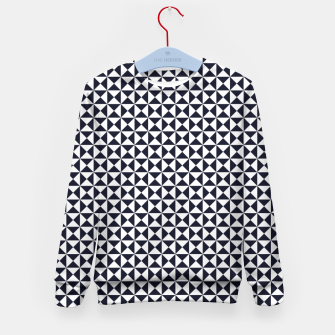 Basic Shapes Black and White Kid's Sweater obraz miniatury