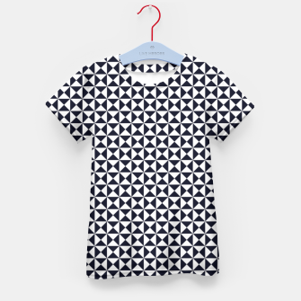 Basic Shapes Black and White Kid's T-shirt obraz miniatury