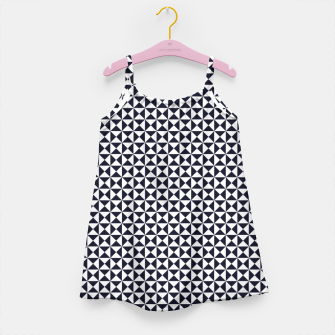 Basic Shapes Black and White Girl's Dress obraz miniatury