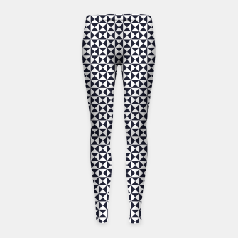 Basic Shapes Black and White Girl's Leggings obraz miniatury