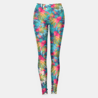 Thumbnail image of Tropical Flowers Leggings, Live Heroes