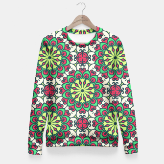 Miniatur Ethnic Oriental Ornament Fitted Waist Sweater, Live Heroes