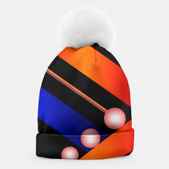 Thumbnail image of Orange Blue Lace White Orbs Beanie, Live Heroes