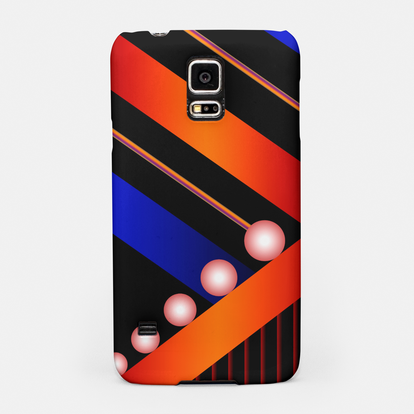 Image of Orange Blue Lace White Orbs Samsung Case - Live Heroes
