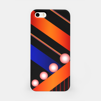 Thumbnail image of Orange Blue Lace White Orbs iPhone Case, Live Heroes