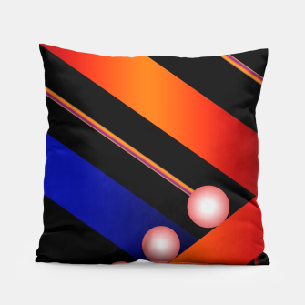 Thumbnail image of Orange Blue Lace White Orbs Pillow, Live Heroes