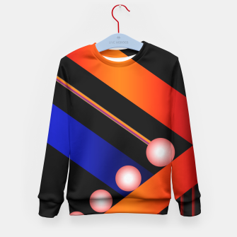 Thumbnail image of Orange Blue Lace White Orbs Kid's Sweater, Live Heroes