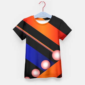Thumbnail image of Orange Blue Lace White Orbs Kid's T-shirt, Live Heroes