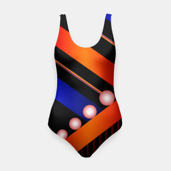 Thumbnail image of Orange Blue Lace White Orbs Swimsuit, Live Heroes