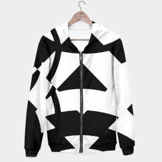 Thumbnail image of Dirty Black White Girl Pattern  Hoodie, Live Heroes