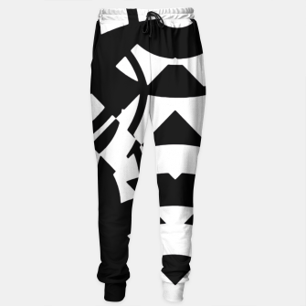 Thumbnail image of Dirty Black White Girl Pattern  Sweatpants, Live Heroes