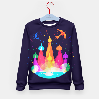 Thumbnail image of Russian Fairytale Kid's Sweater, Live Heroes