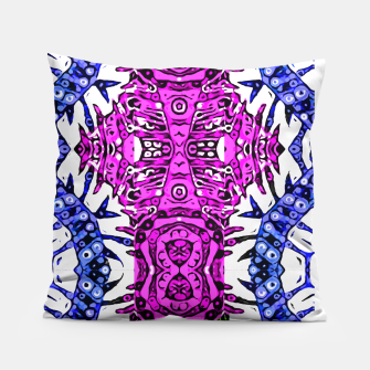 Thumbnail image of Hotness Pink Black Aztec Zebra Print Pattern  Pillow, Live Heroes