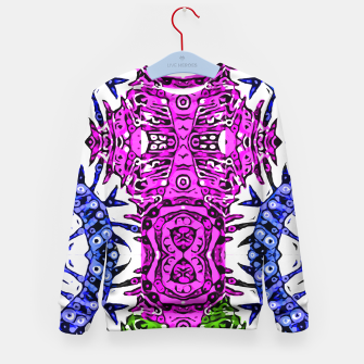 Thumbnail image of Hotness Pink Black Aztec Zebra Print Pattern  Kid's Sweater, Live Heroes