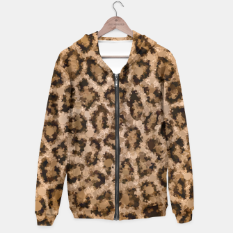 Thumbnail image of Dirty Cheetah Print Design  Hoodie, Live Heroes