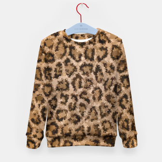 Thumbnail image of Dirty Cheetah Print Design  Kid's Sweater, Live Heroes