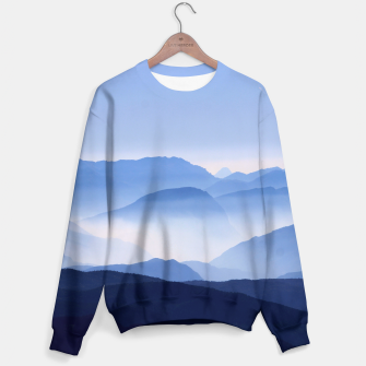 Miniatur Blue Mountains Meditative Relaxing Landscape Scene Sweater, Live Heroes