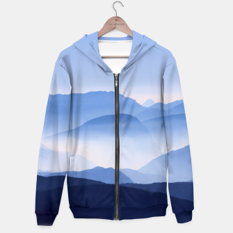 Miniatur Blue Mountains Meditative Relaxing Landscape Scene Hoodie, Live Heroes