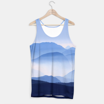 Miniatur Blue Mountains Meditative Relaxing Landscape Scene Tank Top, Live Heroes