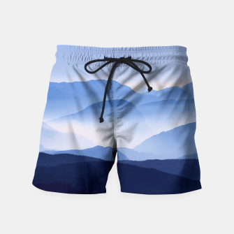 Miniatur Blue Mountains Meditative Relaxing Landscape Scene Swim Shorts, Live Heroes