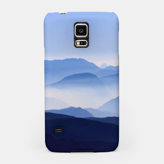 Miniatur Blue Mountains Meditative Relaxing Landscape Scene Samsung Case, Live Heroes