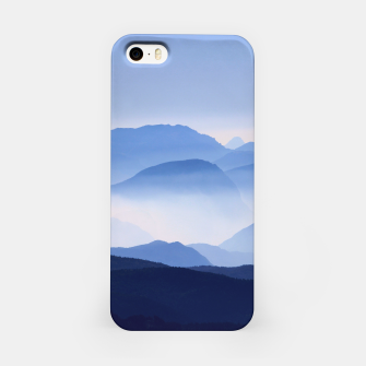 Miniatur Blue Mountains Meditative Relaxing Landscape Scene iPhone Case, Live Heroes