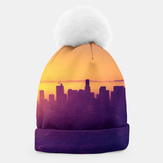 Miniaturka Los Angeles at sunset Beanie, Live Heroes