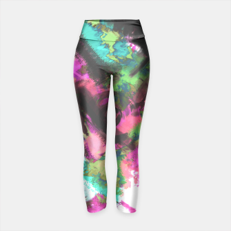 Thumbnail image of Colorful black red green abstract pattern . raspberry, white Yoga Pants, Live Heroes
