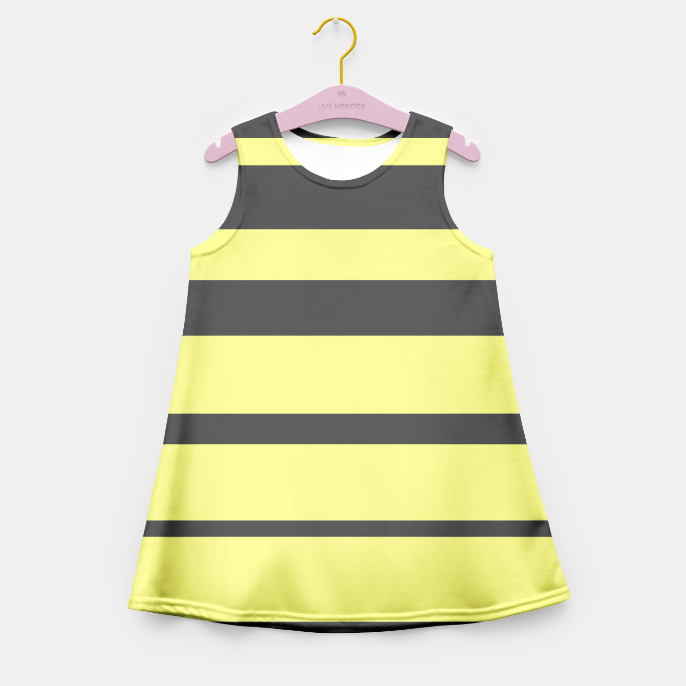 a5647d85f37 Black and lime striped creative abstract pattern Girl s Summer Dress ...