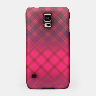 Red striped pattern . Oblique stripes . Samsung Case obraz miniatury
