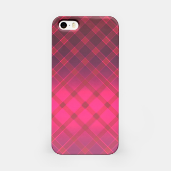 Red striped pattern . Oblique stripes . iPhone Case obraz miniatury