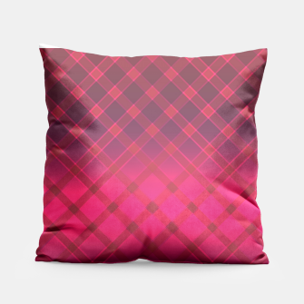Red striped pattern . Oblique stripes . Pillow obraz miniatury