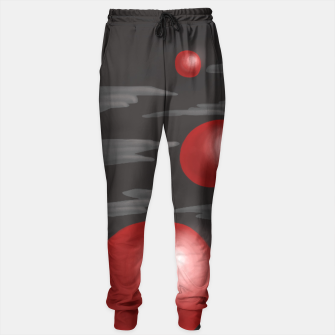 Thumbnail image of Shiny Red Planets Sweatpants, Live Heroes