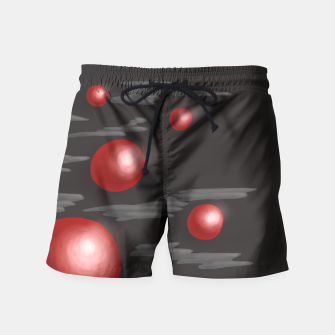 Thumbnail image of Shiny Red Planets Swim Shorts, Live Heroes