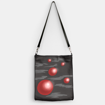 Thumbnail image of Shiny Red Planets Handbag, Live Heroes
