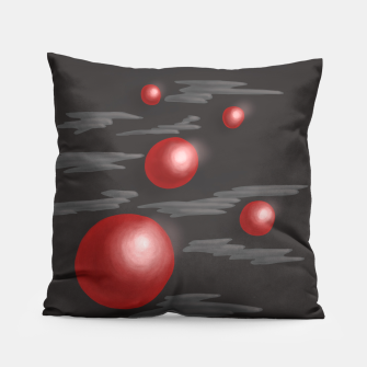 Thumbnail image of Shiny Red Planets Pillow, Live Heroes