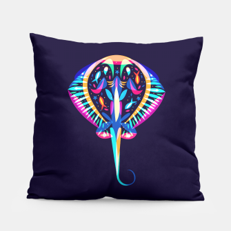 Thumbnail image of psychedelic ray Pillow, Live Heroes