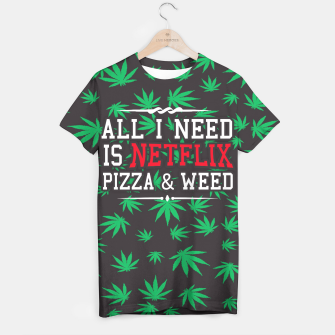 Thumbnail image of WEED & NETFLIX T-shirt, Live Heroes
