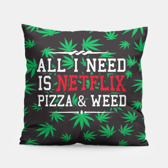 Thumbnail image of WEED & NETFLIX Pillow, Live Heroes