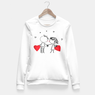 Thumbnail image of Valentine's day . Love . Humor , heart , holiday , gift Fitted Waist Sweater, Live Heroes
