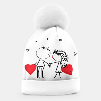 Thumbnail image of Valentine's day . Love . Humor , heart , holiday , gift Beanie, Live Heroes