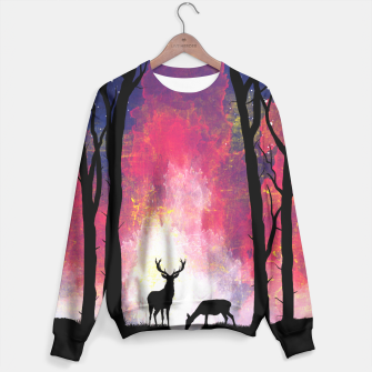 Thumbnail image of Deer in the Forest Sudadera, Live Heroes