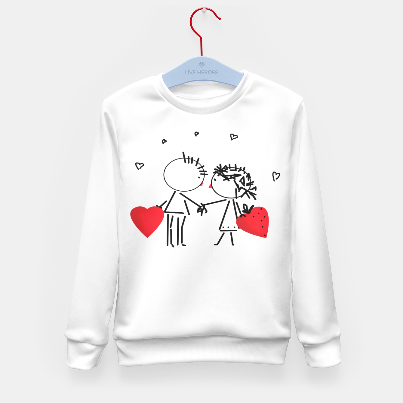 Image de Valentine's day . Love . Humor , heart , holiday , gift Kid's Sweater - Live Heroes
