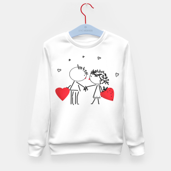Thumbnail image of Valentine's day . Love . Humor , heart , holiday , gift Kid's Sweater, Live Heroes