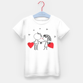 Thumbnail image of Valentine's day . Love . Humor , heart , holiday , gift Kid's T-shirt, Live Heroes