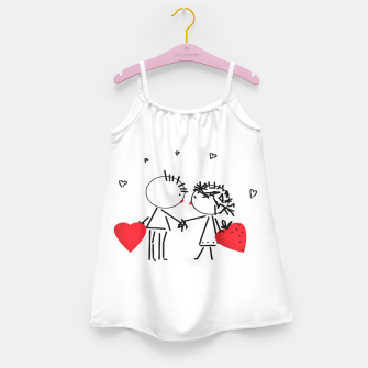 Thumbnail image of Valentine's day . Love . Humor , heart , holiday , gift Girl's Dress, Live Heroes