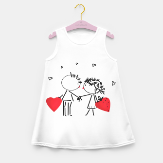 Thumbnail image of Valentine's day . Love . Humor , heart , holiday , gift Girl's Summer Dress, Live Heroes