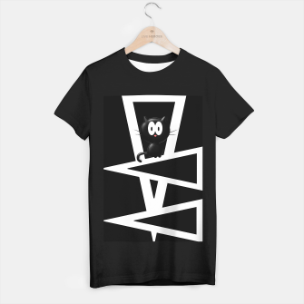 Thumbnail image of Kitty On Triangles T-shirt regular, Live Heroes