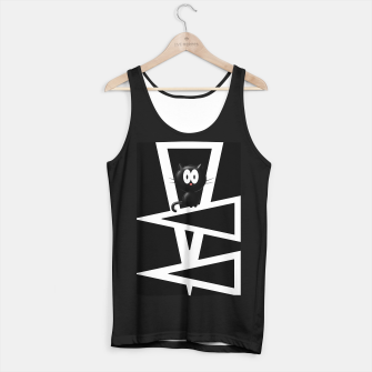 Thumbnail image of Kitty On Triangles Tank Top regular, Live Heroes